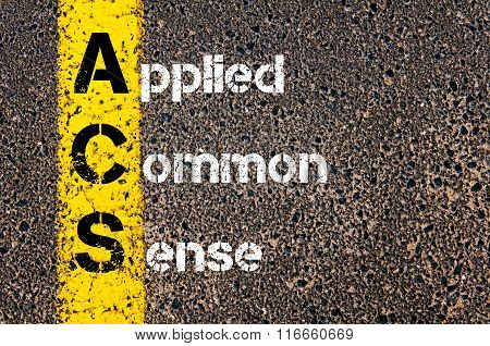 Business Acronym Acs Applied Common Sense