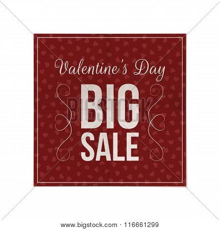 Valentines Day dark red Poster Template