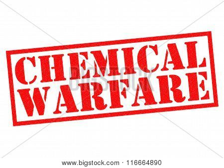 CHEMICAL WARFARE red Rubber Stamp over a white background.