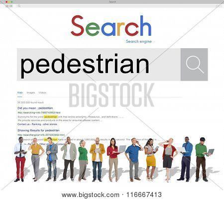 Pedestrian Walker Active Foot Traffic Tedious Boring Concept