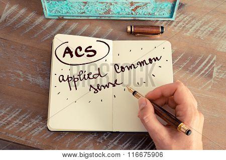 Acronym Acs Applied Common Sense