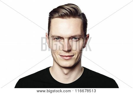 Portrait Of Young Cheerful Man