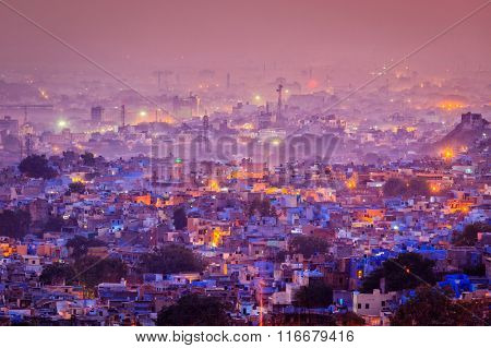Aerial view of Jodhpur (aka