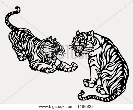 Chinese Paper Art Tiger Print