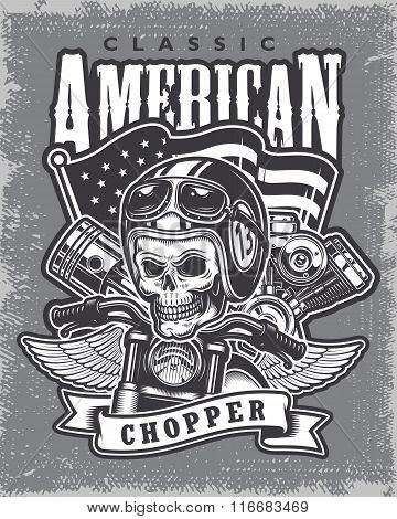 Vintage motorcycle print.