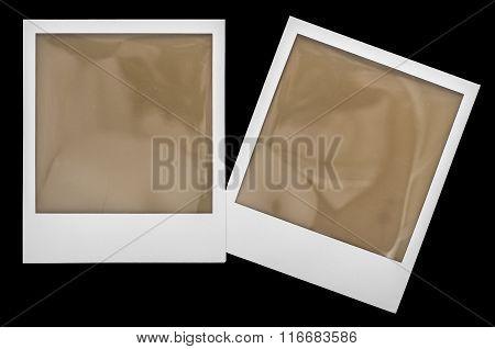 Instant Polaroid Photo Frames Isolaten On Black
