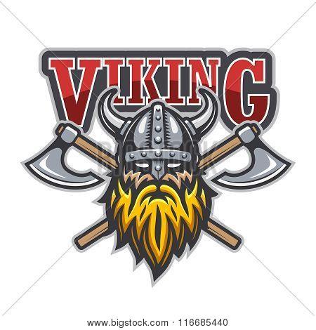 Viking warrior sport logo