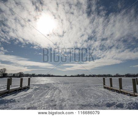Frozen Boat Launch