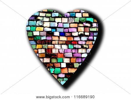 mosaic heart isolated