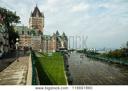 Quebec Riverside Boardwalk