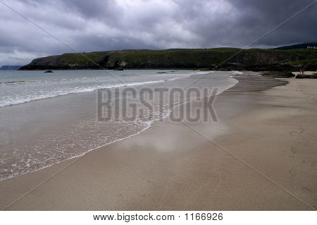 Scotland - Looking Down The Beach