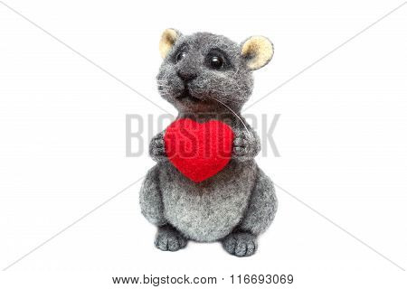Felted Cute Chinchilla