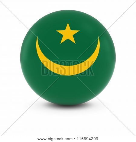 Mauritanian Flag Ball - Flag Of Mauritania On Isolated Sphere