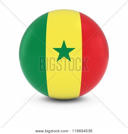 Senegalese Flag Ball - Flag Of Senegal On Isolated Sphere