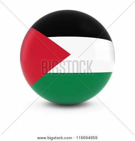 Palestinian Flag Ball - Flag Of Palestine On Isolated Sphere