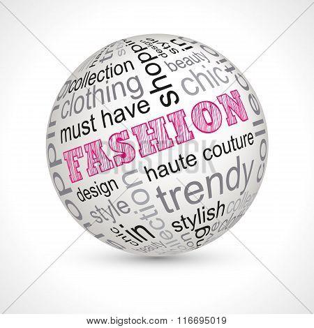 Fashion Theme Sphere With Keywords