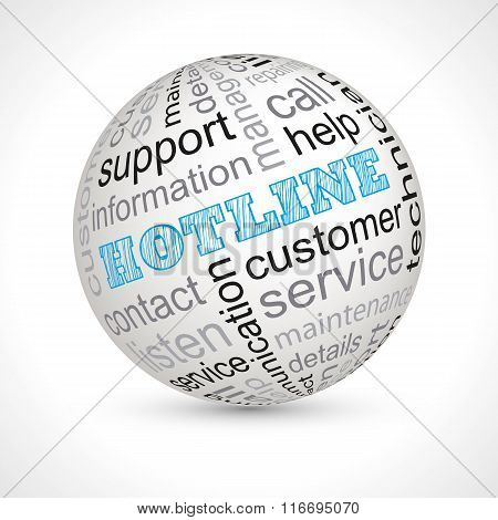 Hotline Theme Sphere With Keywords
