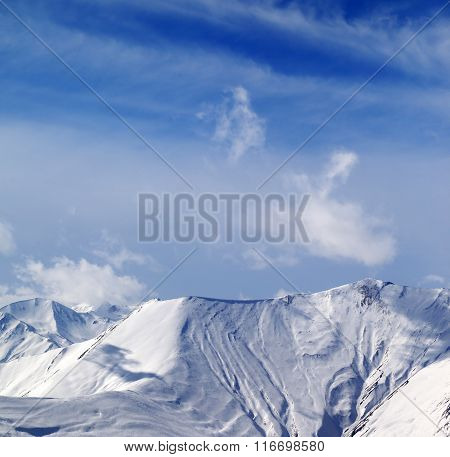 View On Off-piste Snowy Slope