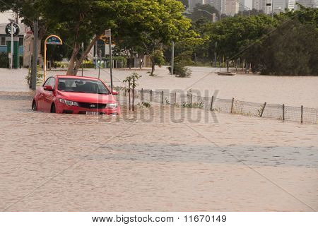 Brisbane, Australia - Jan 12 : Flood  Brisbane  Queensland Declared Natural Disater January 12, 2011