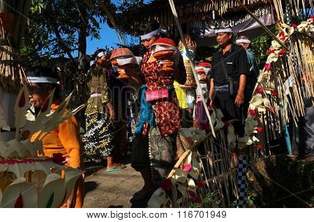 Balinese-Hindu cremation ceremony in Bali, Indonesia
