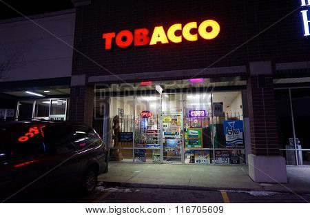 Tobacco Store During the Night