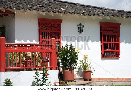 Spanish style farm house