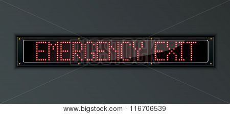 Emergency Exit LED digital Sign