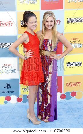 Bailee Madison and Olivia Holt at the Variety's Power Of Youth held at the Paramount Studios in Hollywood, USA on September 15, 2012.