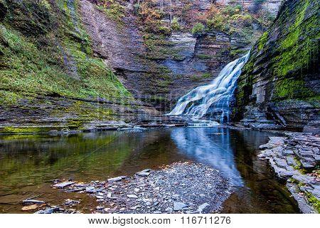 Waterfall On Enfield Creek, Ny