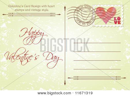 Back Side of Valentine's Day Card