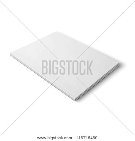 Blank thick magazine template.