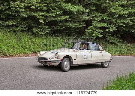 Citroen Ds19 (1957) In Rally Mille Miglia 2013