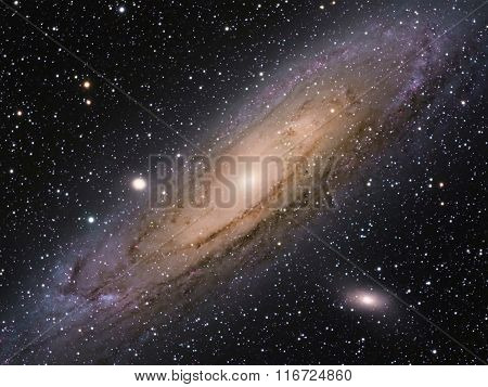 M31 Great Galaxy in Andromeda Constellation