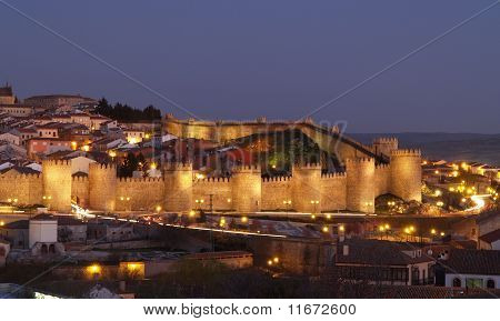 Avila City, Spain. Unesco Monument.