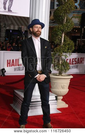 LOS ANGELES - FEB 1:  Patrick Carroll at the Hail, Caesar World Premiere at the Village Theater on February 1, 2016 in Westwood, CA