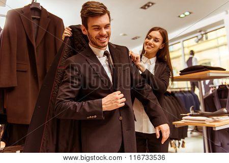 People In Suit Shop