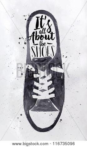Poster Men Sport Shoes