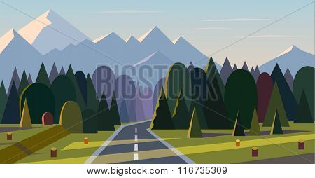 Vector landscape background.