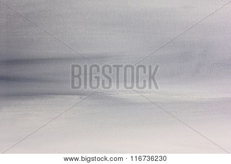 Grey and White Macro Painted Canvas Background