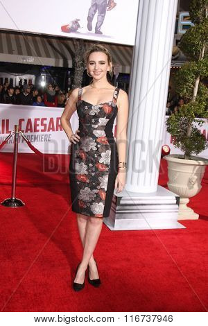 LOS ANGELES - FEB 1:  Natasha Bassett at the Hail, Caesar World Premiere at the Village Theater on February 1, 2016 in Westwood, CA