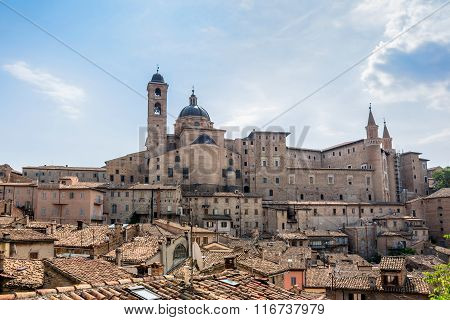 Urbino Skyline With Ducal Palace, Italy