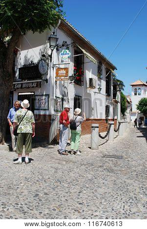 Albaicin District street, Granada.