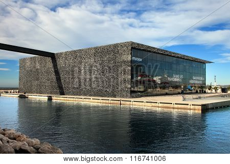 Marseille, France - November 19, 2015 : The Modern Building Of Museum Of European And Mediterranean