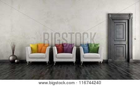 Vintage Room With Colorful Armchair