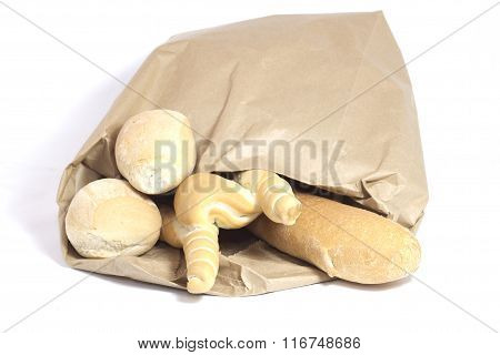 mixed bread processing with paper bag