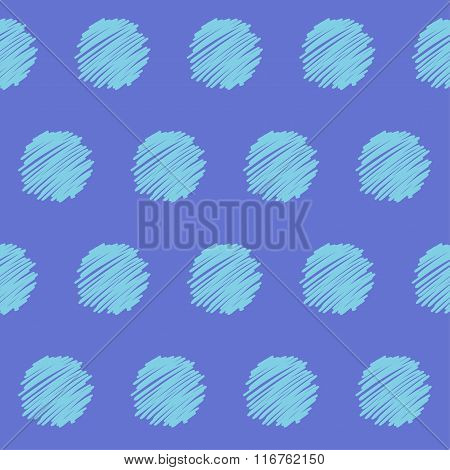 Doodle seamless circles pattern background.