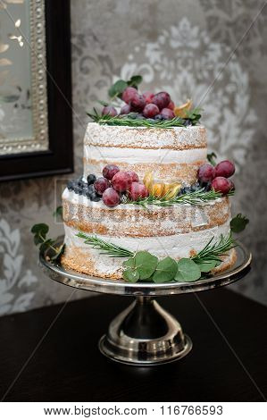 Beautiful Two-tiered Wedding Cake