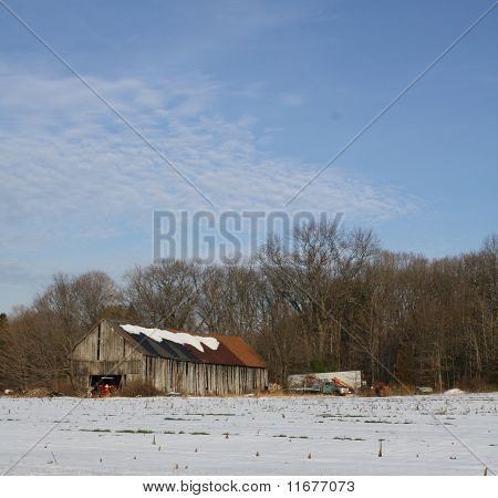 Red and Brown Barn