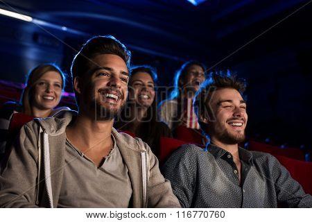 Happy Guys At The Cinema