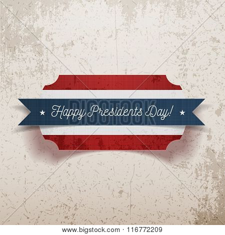Banner Template with Happy Presidents Day Text